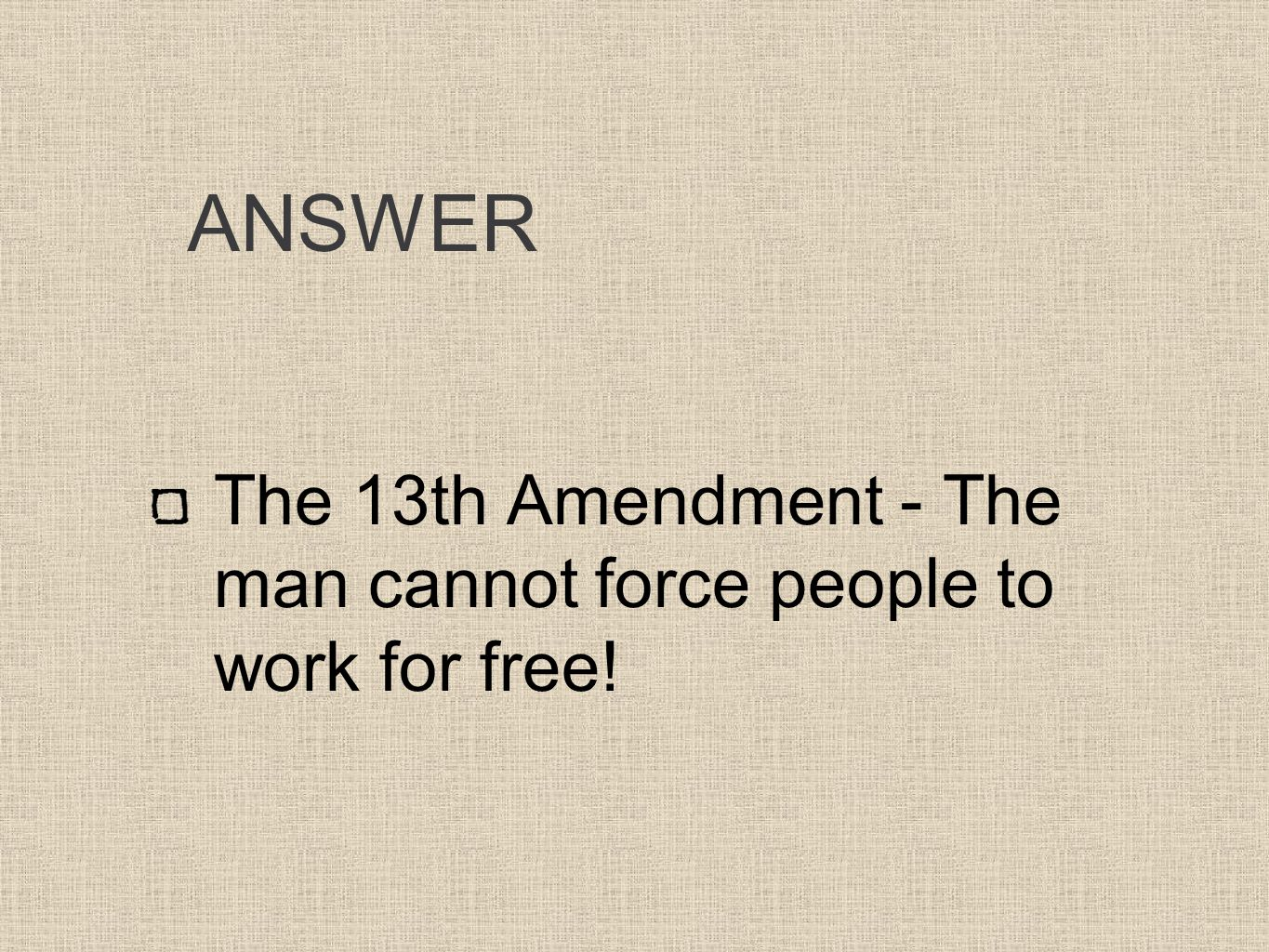 13th amendment importance