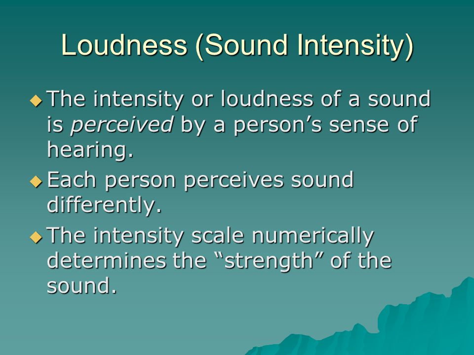 Loudness (Sound Intensity)