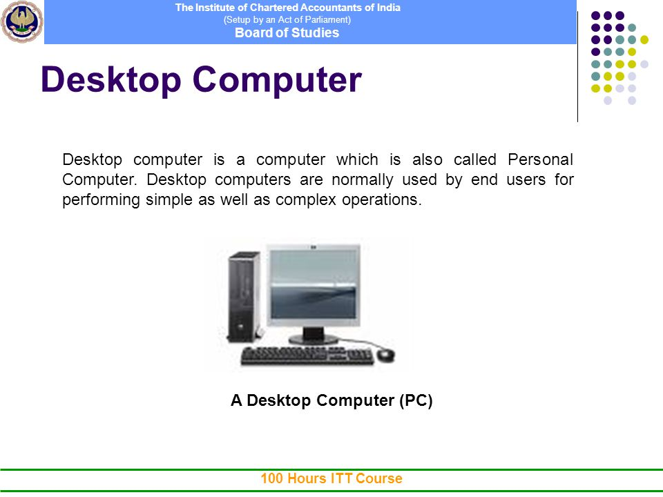 ITT Course - Unit I --> Chapter 1 - Computer Concepts - ppt