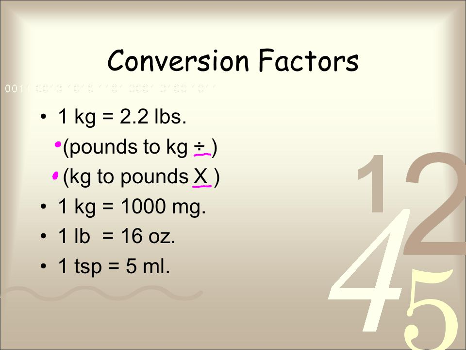 Conversion Factors  2 Lbs Pounds To Kg  C3 B7 Kg