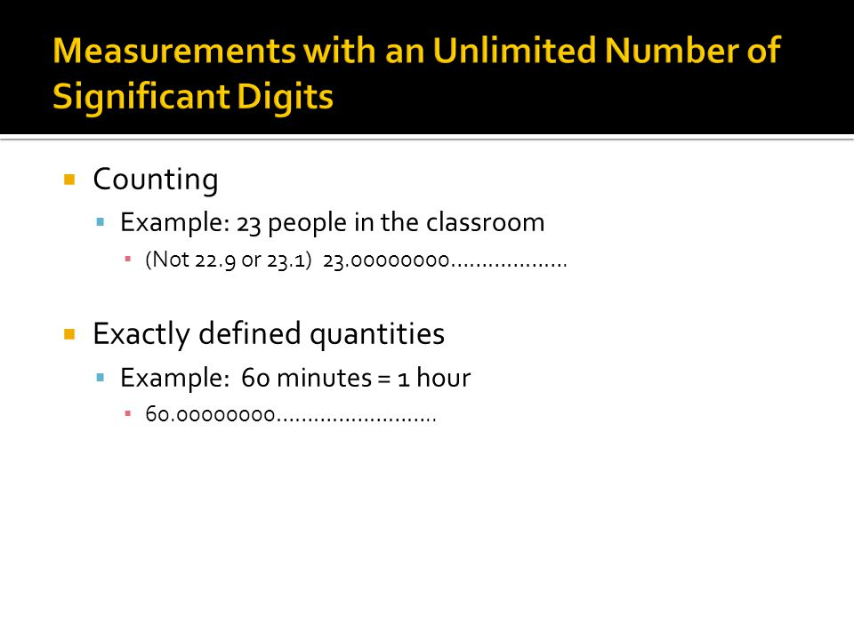 Measurements with an Unlimited Number of Significant Digits