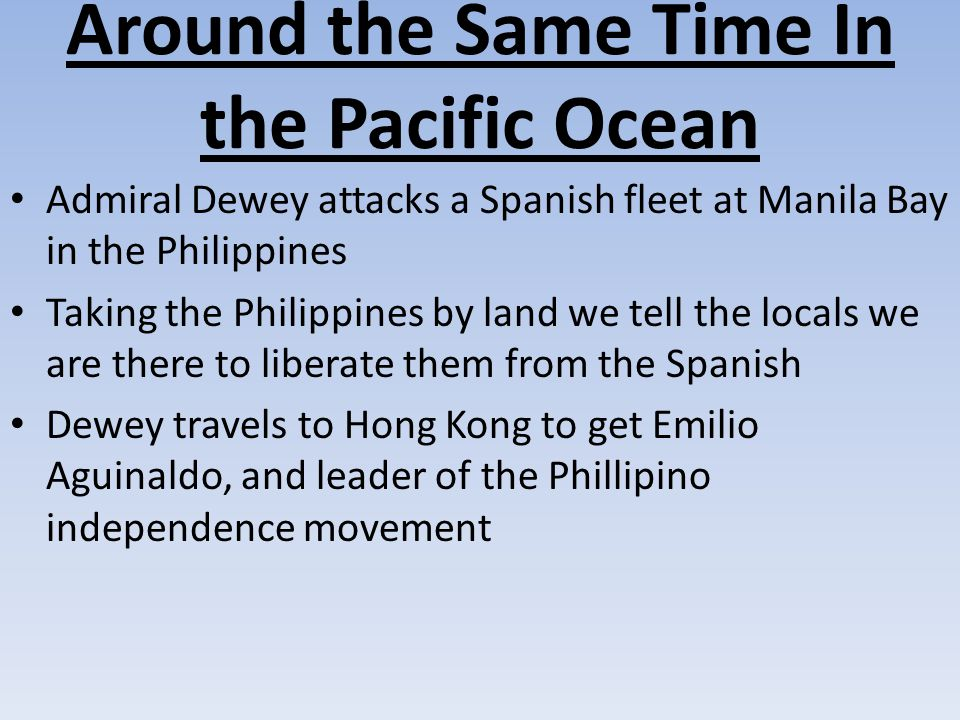 Around the Same Time In the Pacific Ocean