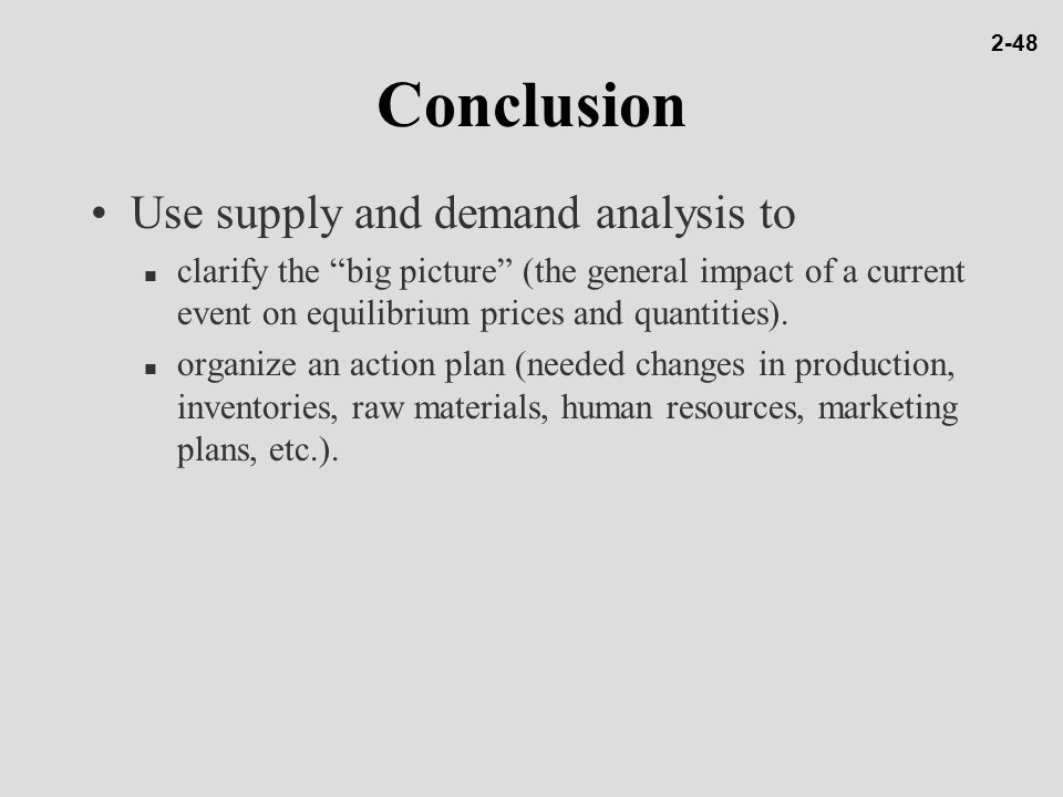 conclusion of law of demand