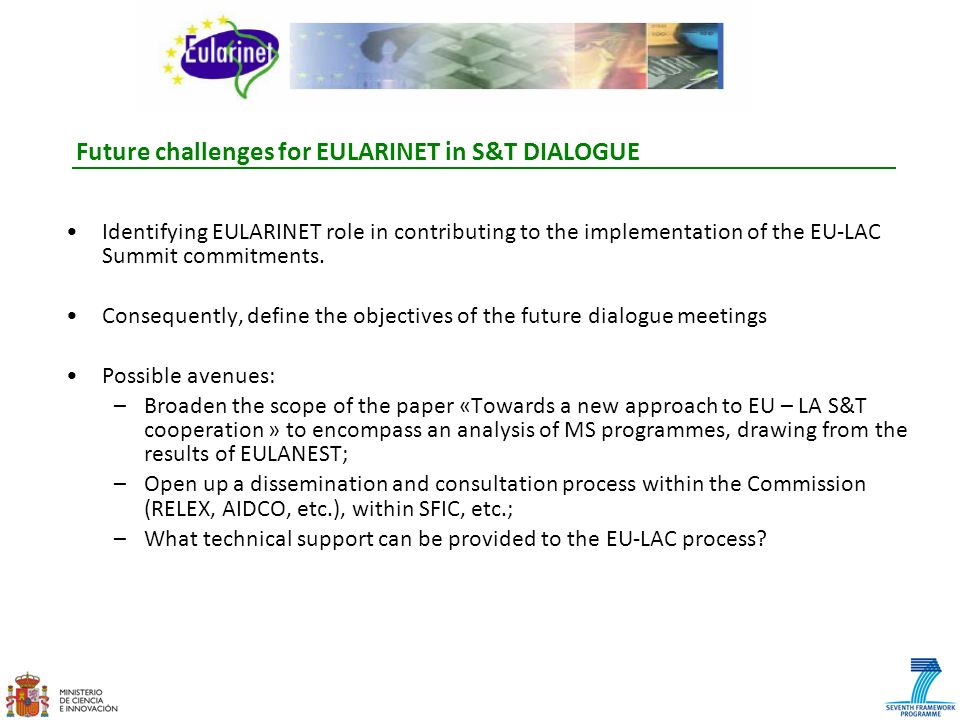 Future challenges for EULARINET in S&T DIALOGUE