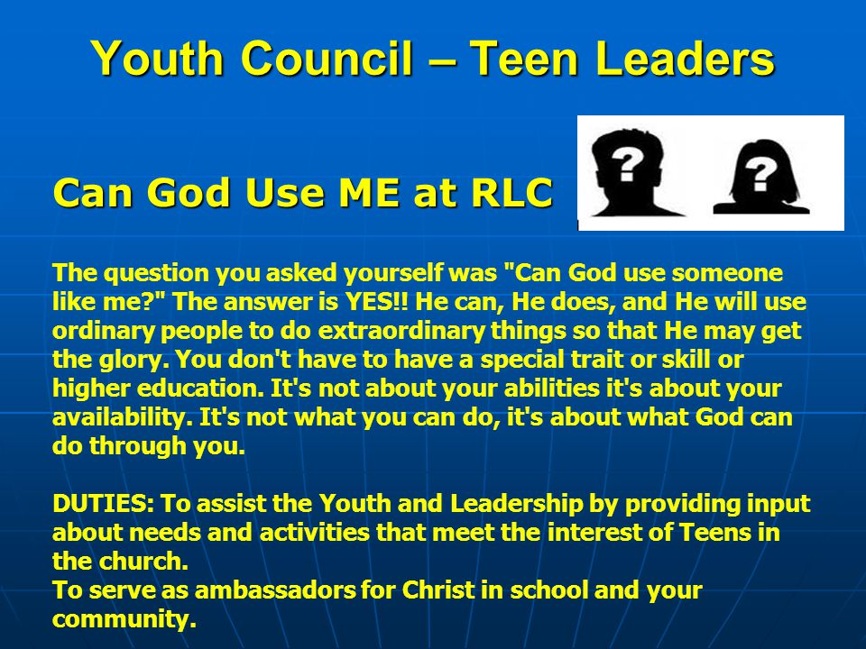 Youth Council – Teen Leaders