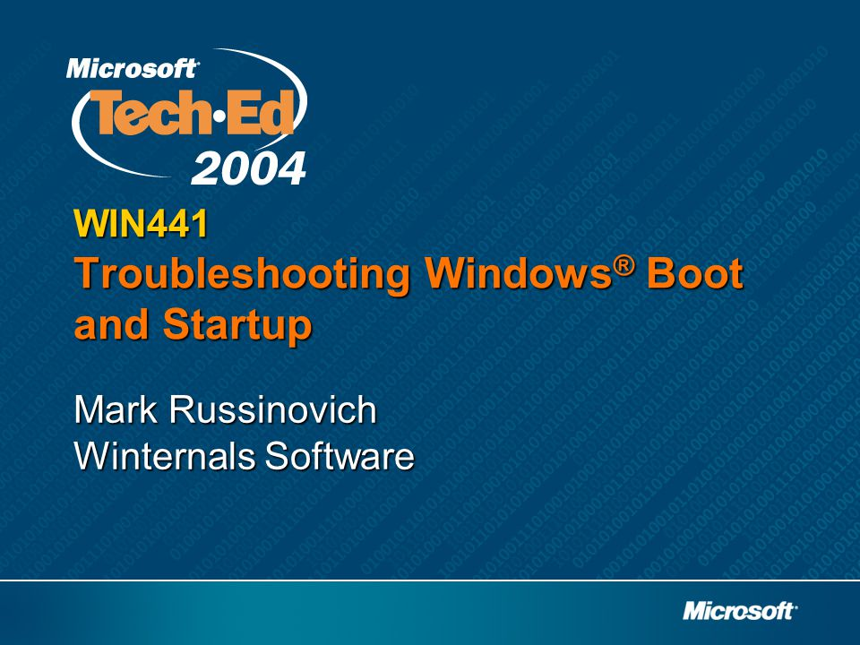 WIN441 Troubleshooting Windows® Boot and Startup
