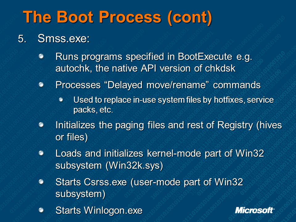 The Boot Process (cont)