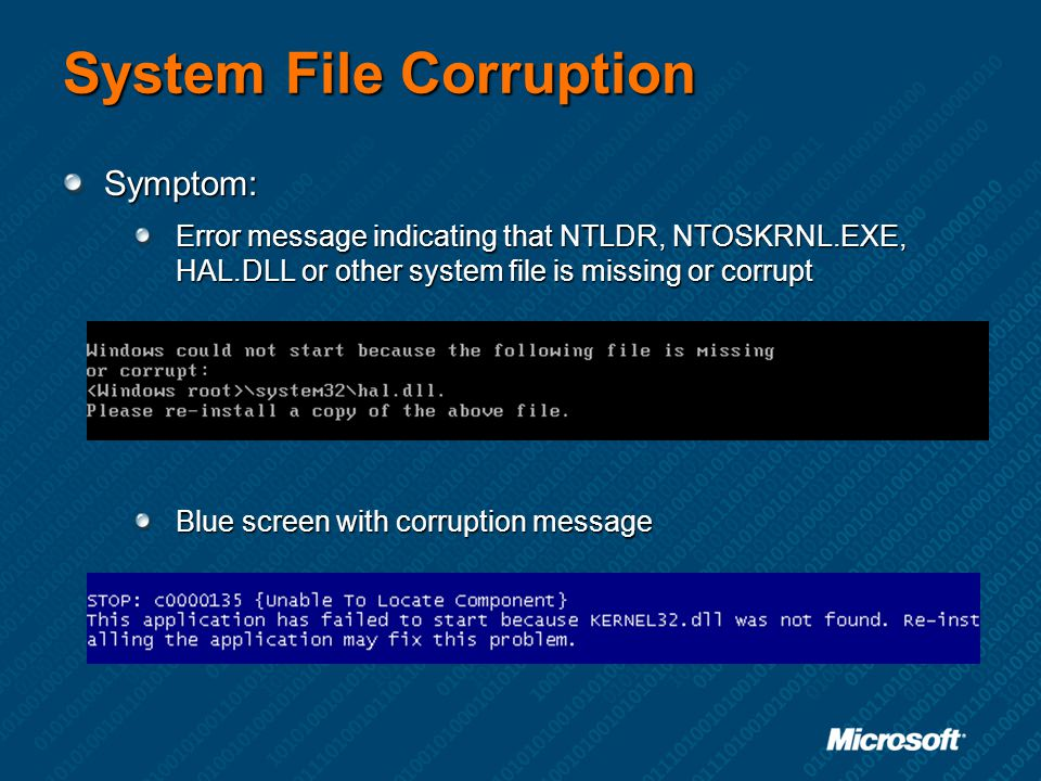 System File Corruption