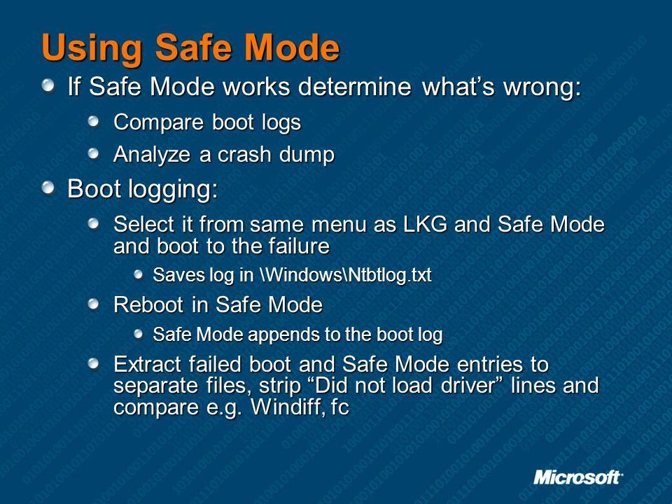Using Safe Mode If Safe Mode works determine what's wrong: