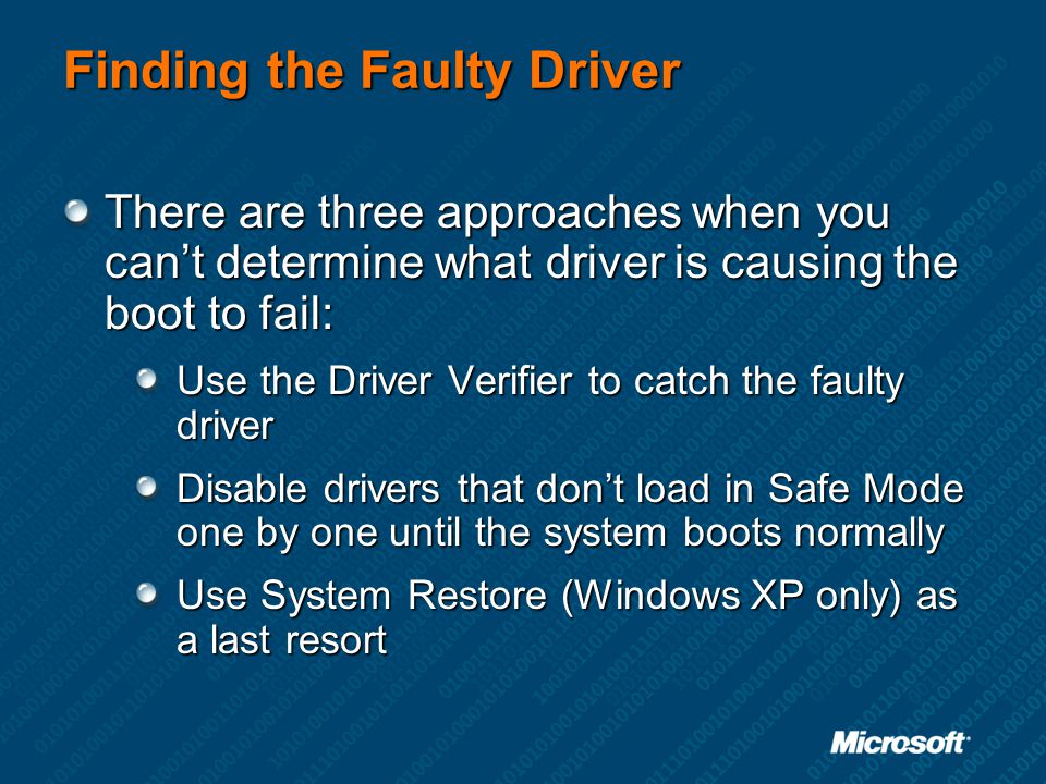 Finding the Faulty Driver