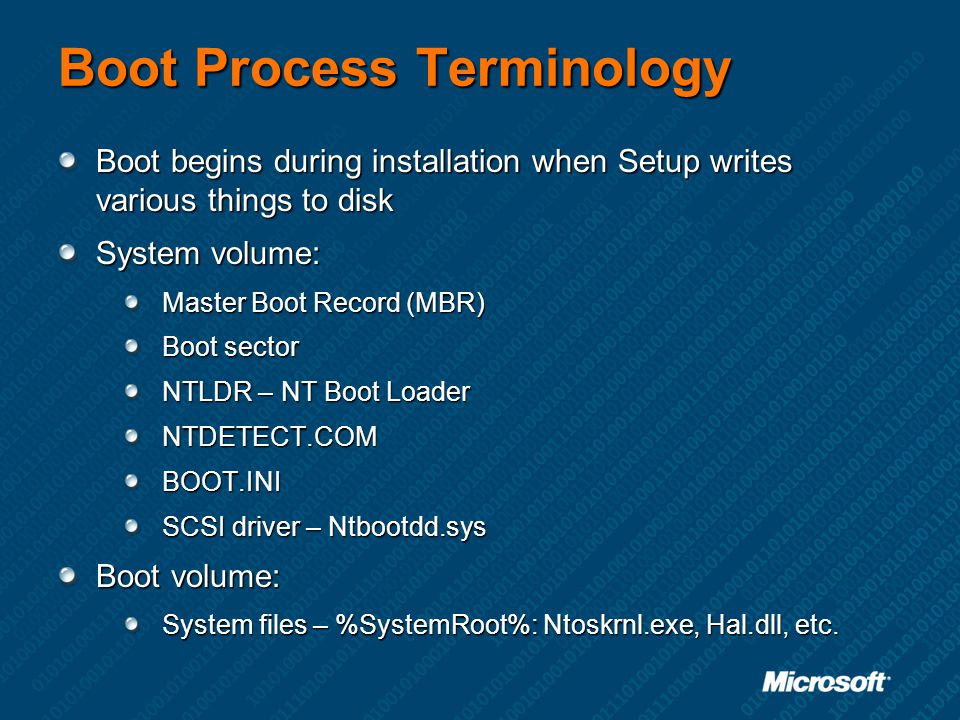 Boot Process Terminology