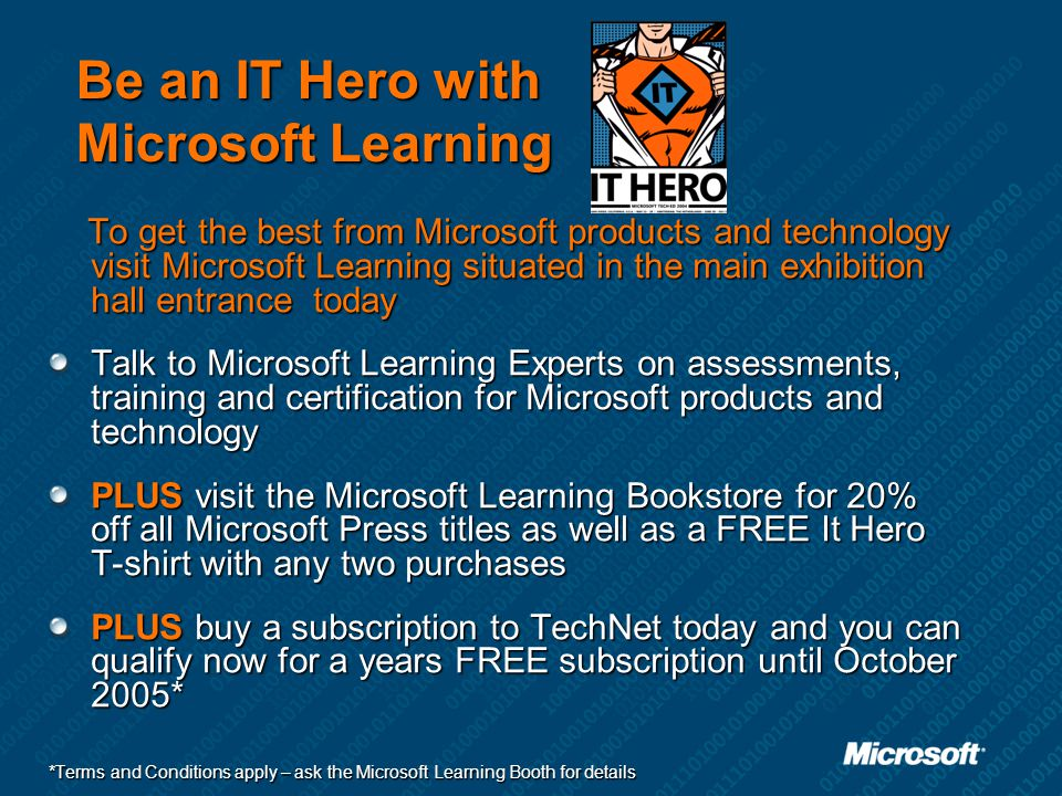 Be an IT Hero with Microsoft Learning