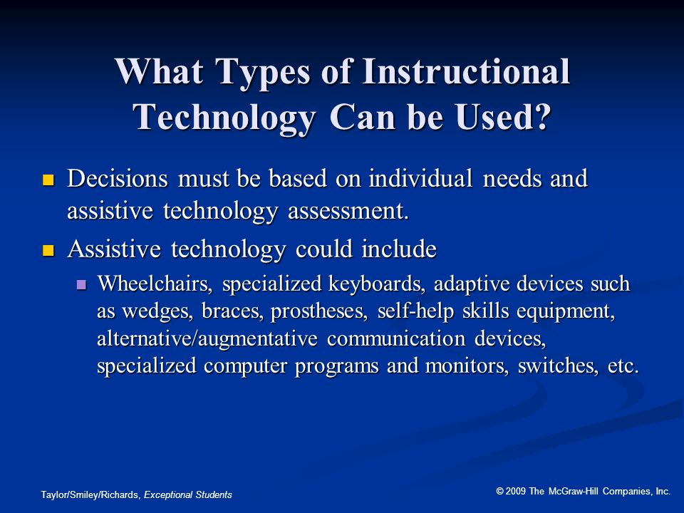 What Types of Instructional Technology Can be Used