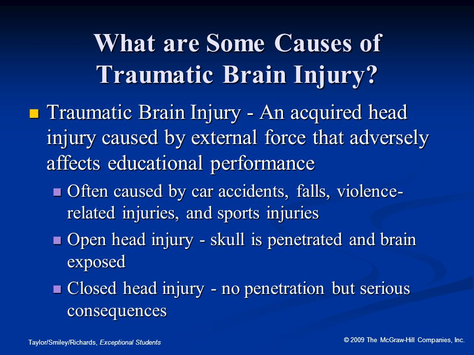 What are Some Causes of Traumatic Brain Injury