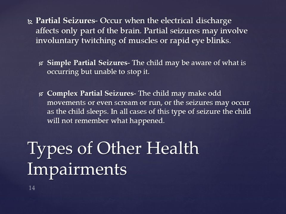 Types of Other Health Impairments