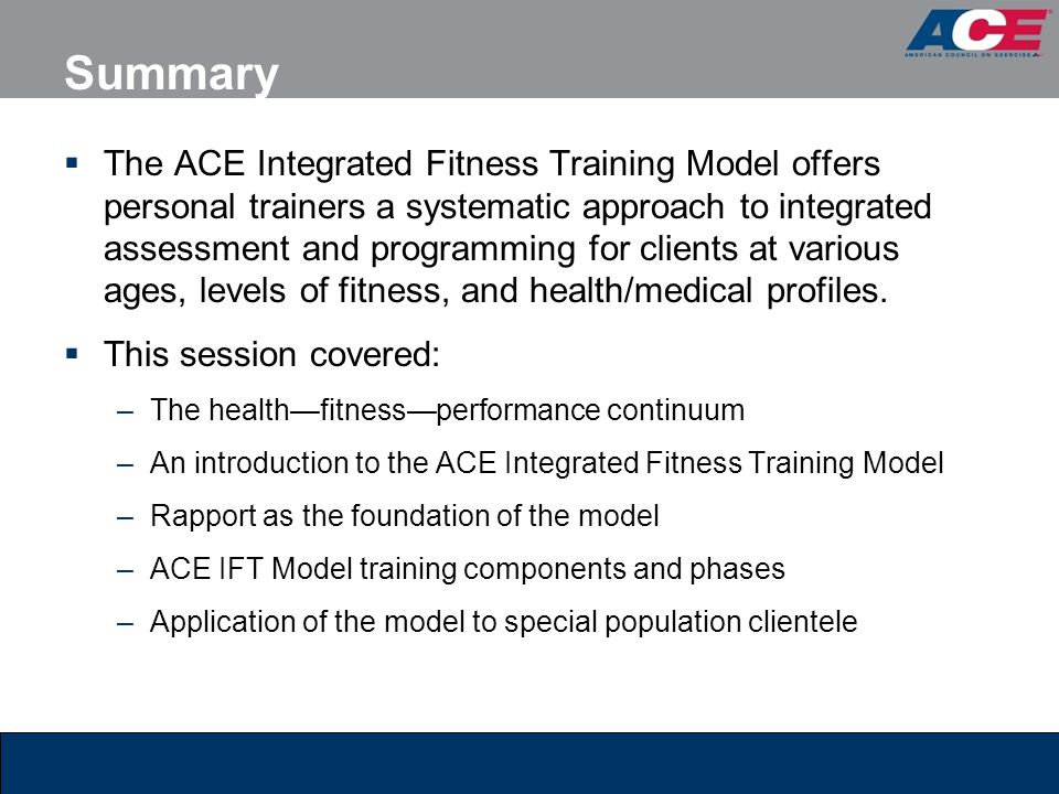 Ace Fitness Certification Classes New Store Deals