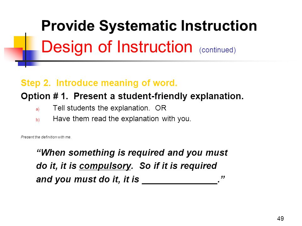 Explicit Instruction Pathway To The Common Core State Standards