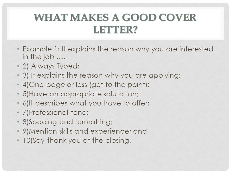 what makes a good cover letter cover letters ms batichon ppt 25576 | What makes a good Cover Letter
