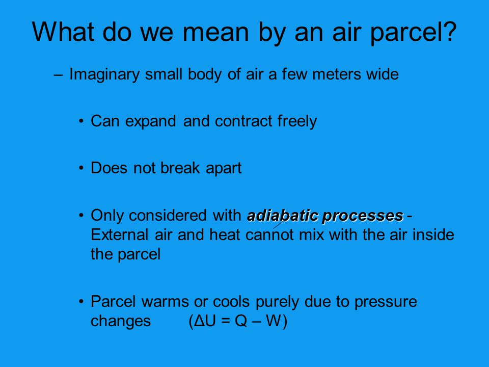 What do we mean by an air parcel
