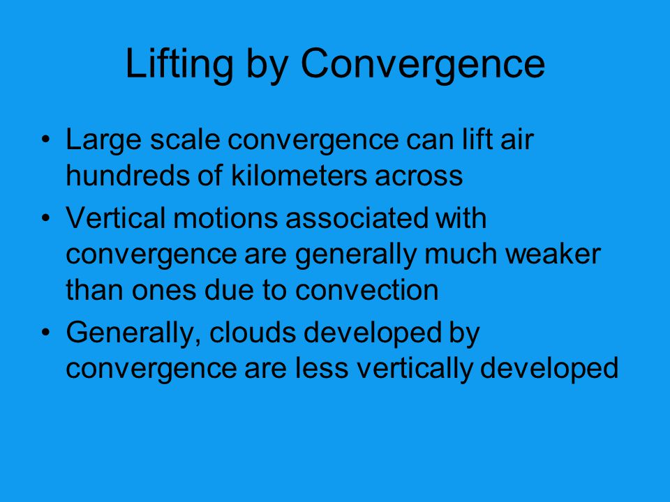 Lifting by Convergence
