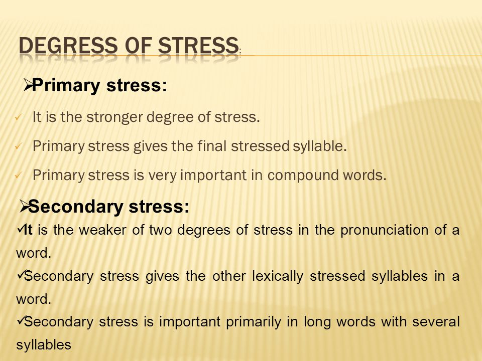 Word stress (phonetics).