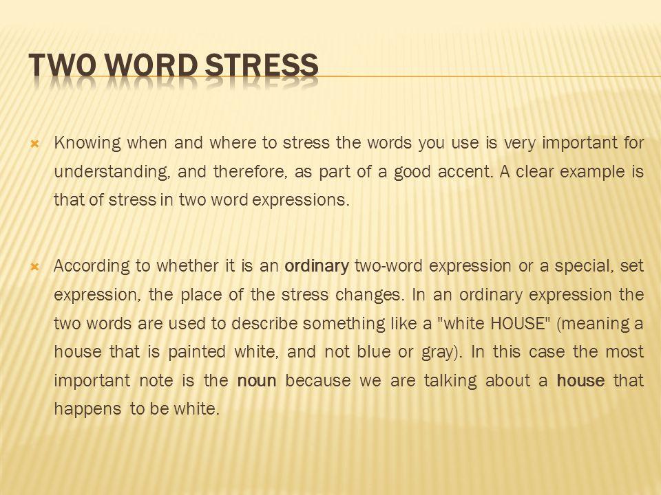 Word stress youtube.