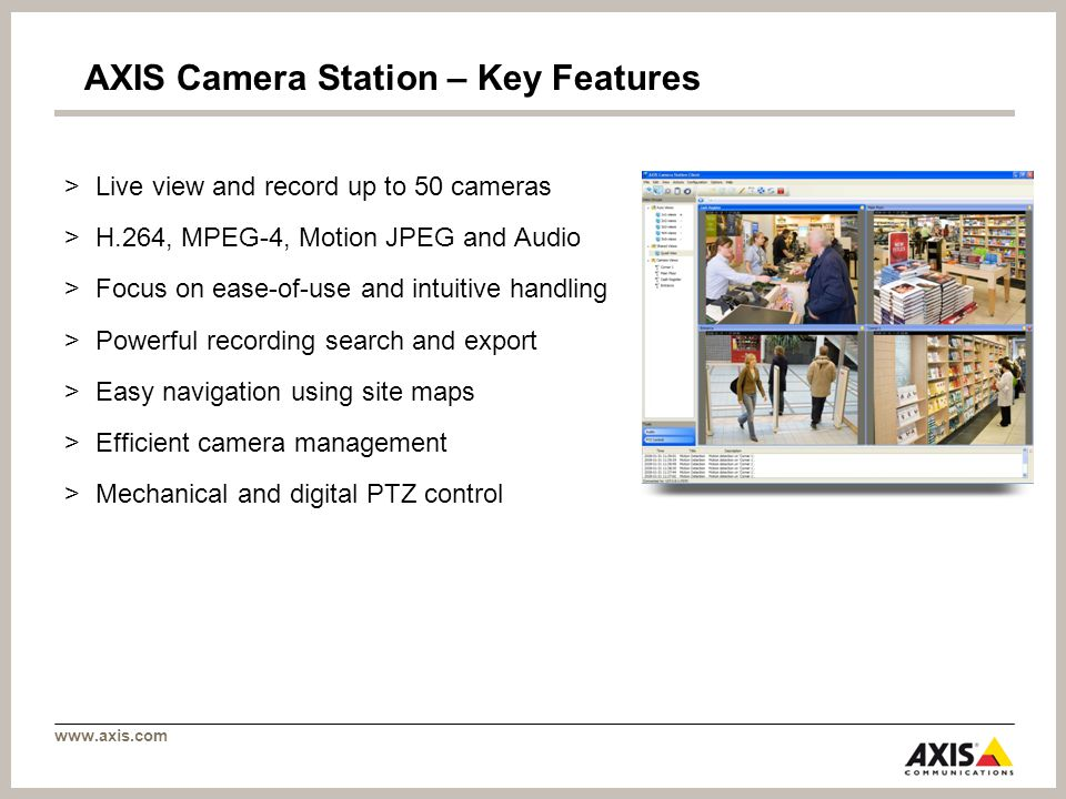 AXIS Camera Station Comprehensive video management software