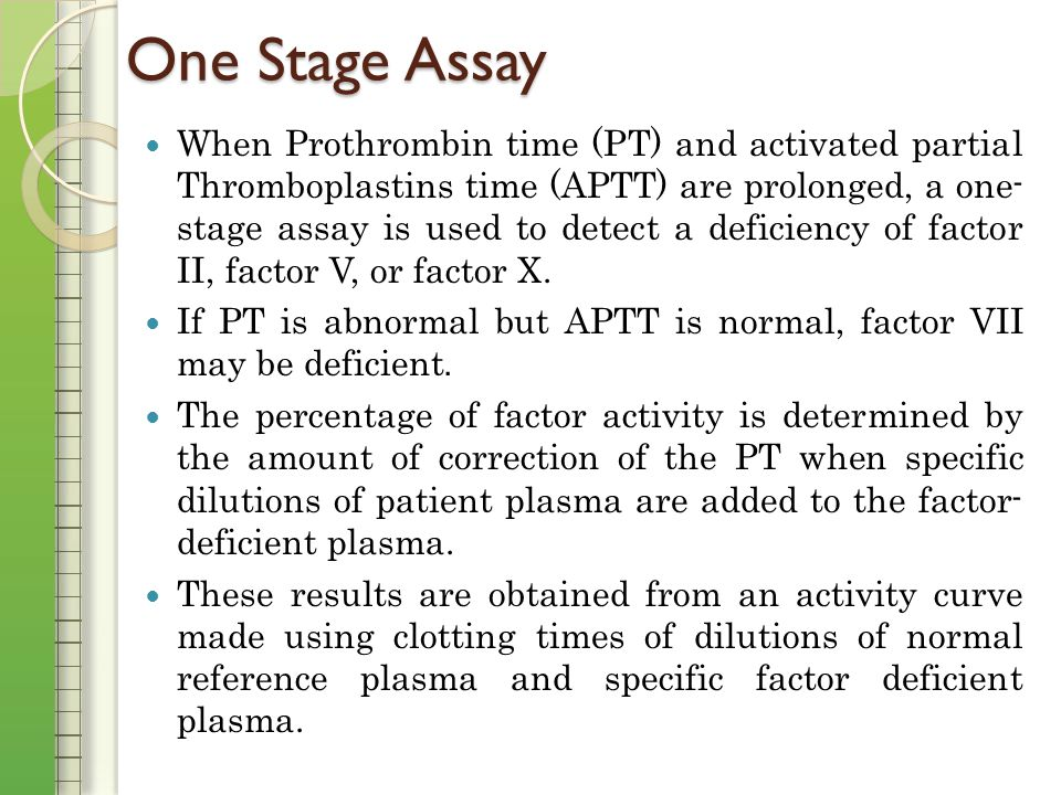 One Stage Factor V Assay 2