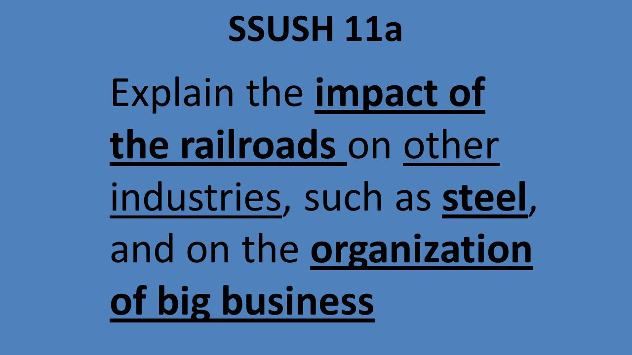 how did the organization of big business impact the us
