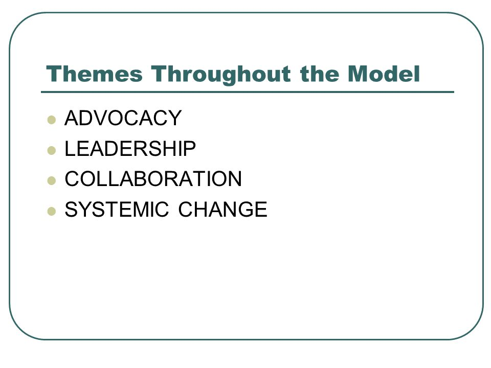 Themes Throughout the Model