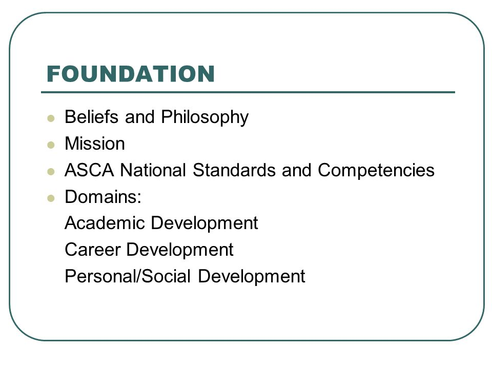 FOUNDATION Beliefs and Philosophy Mission