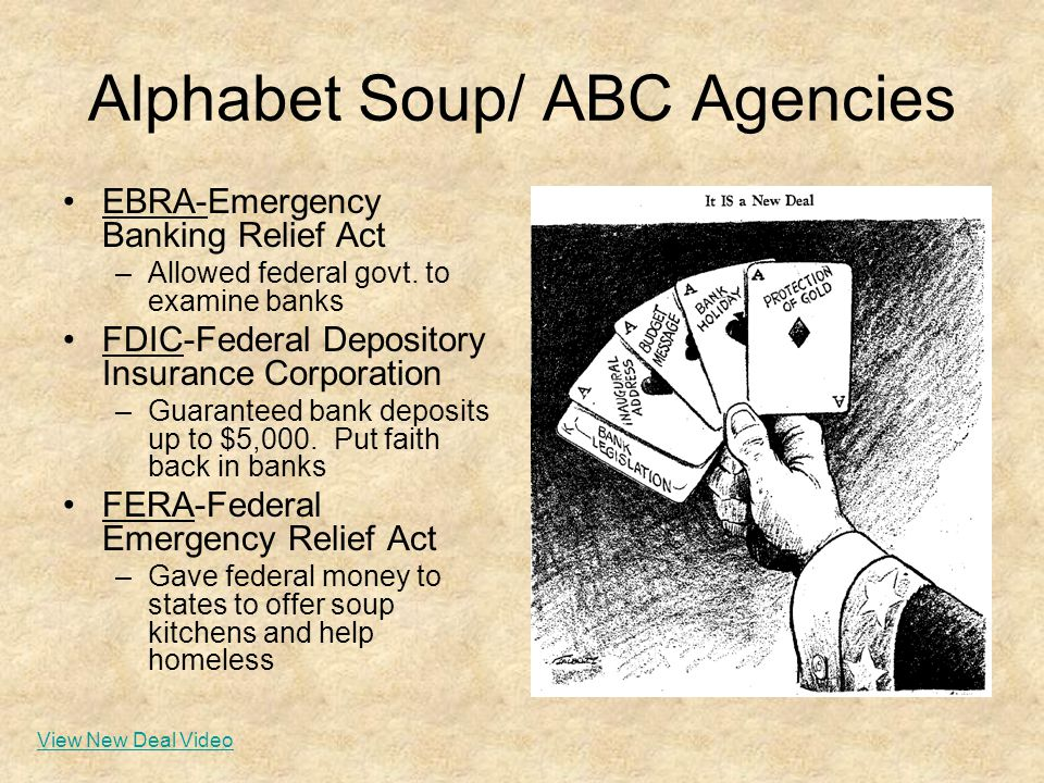 federal emergency relief act new deal