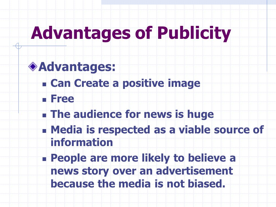Advantages of Publicity