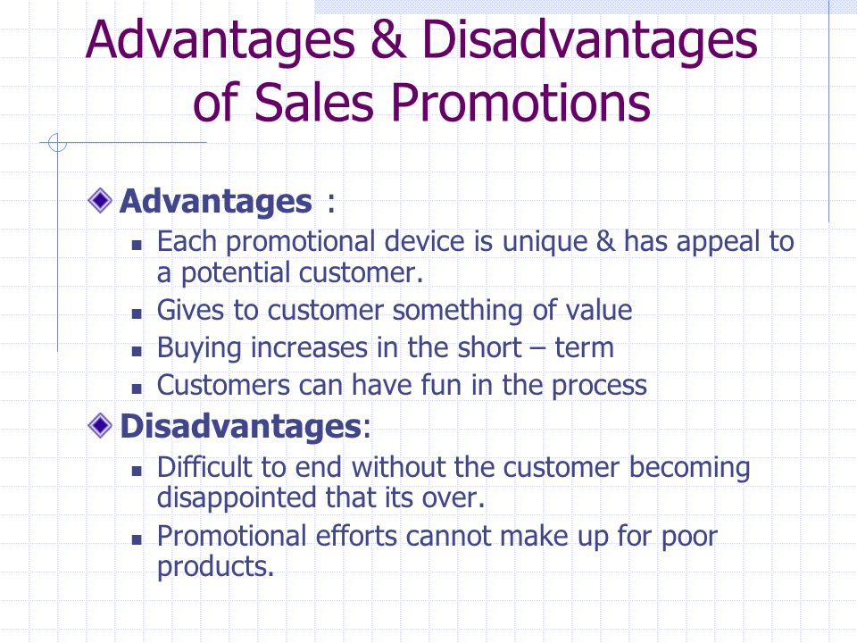 Advantages & Disadvantages of Sales Promotions