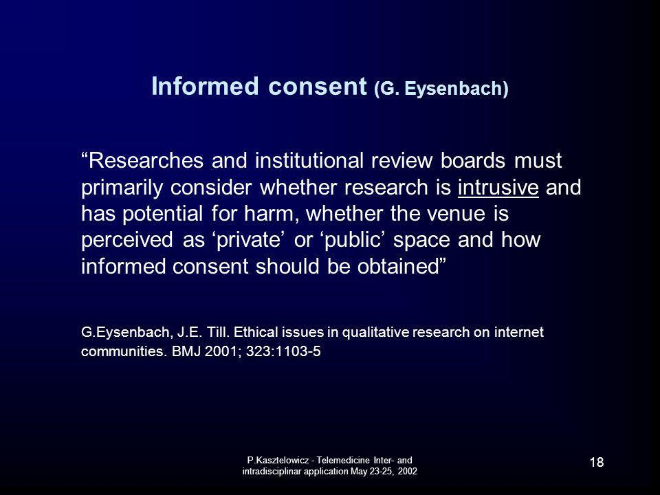 Informed consent (G. Eysenbach)