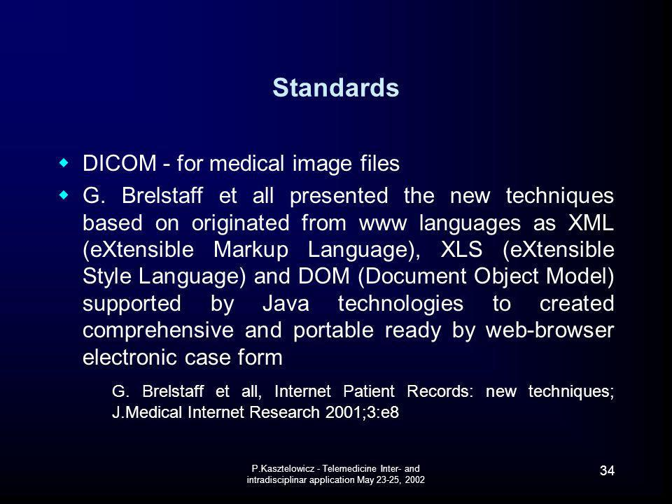 Standards DICOM - for medical image files