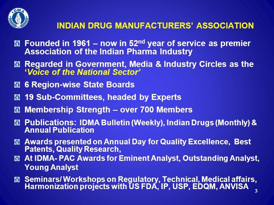 INDIAN DRUG MANUFACTURERS' ASSOCIATION