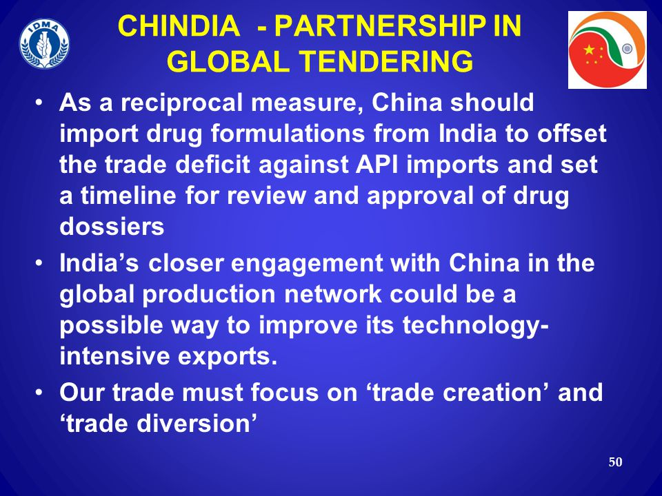CHINDIA - PARTNERSHIP IN GLOBAL TENDERING