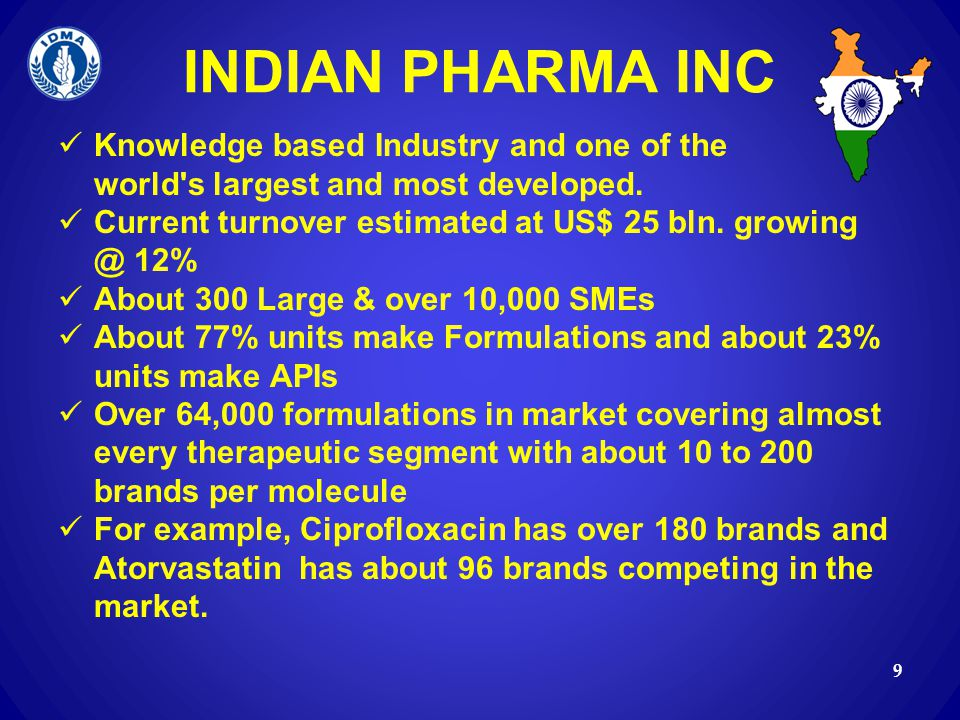 INDIAN PHARMA INC Knowledge based Industry and one of the world s largest and most developed.