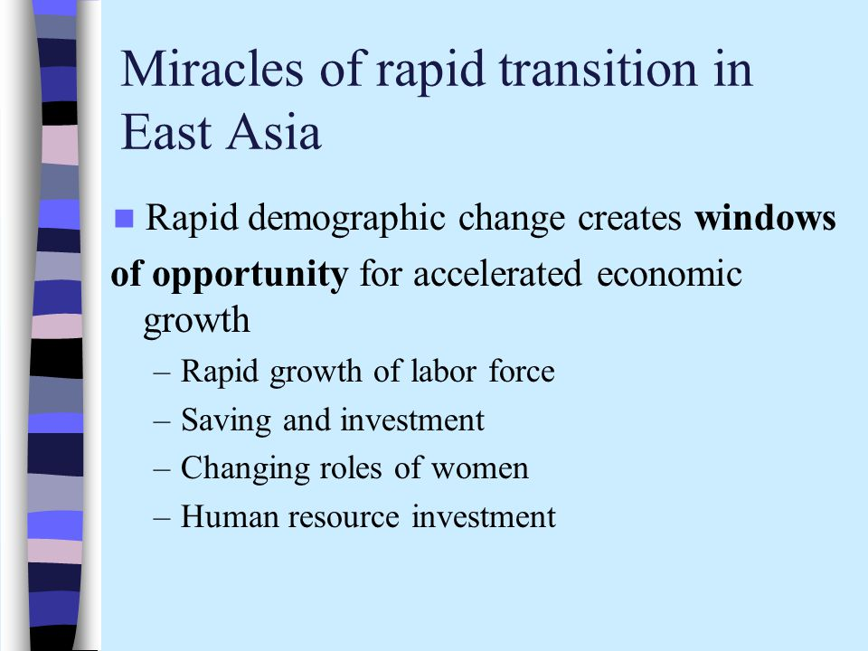 Miracles of rapid transition in East Asia