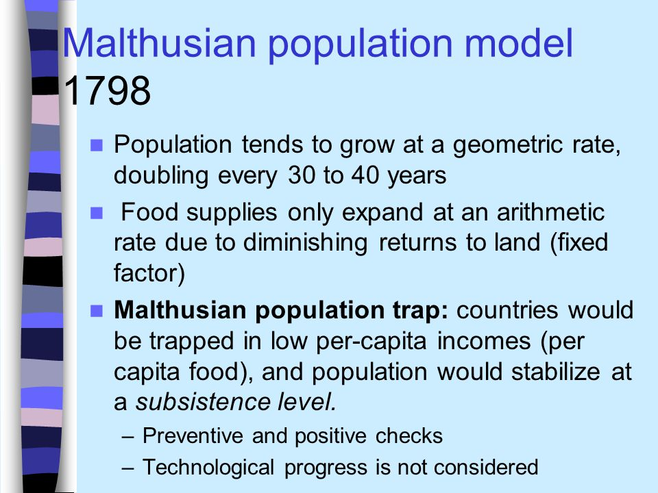 Malthusian population model 1798