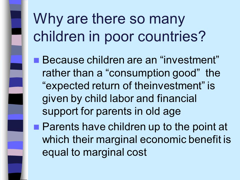 Why are there so many children in poor countries