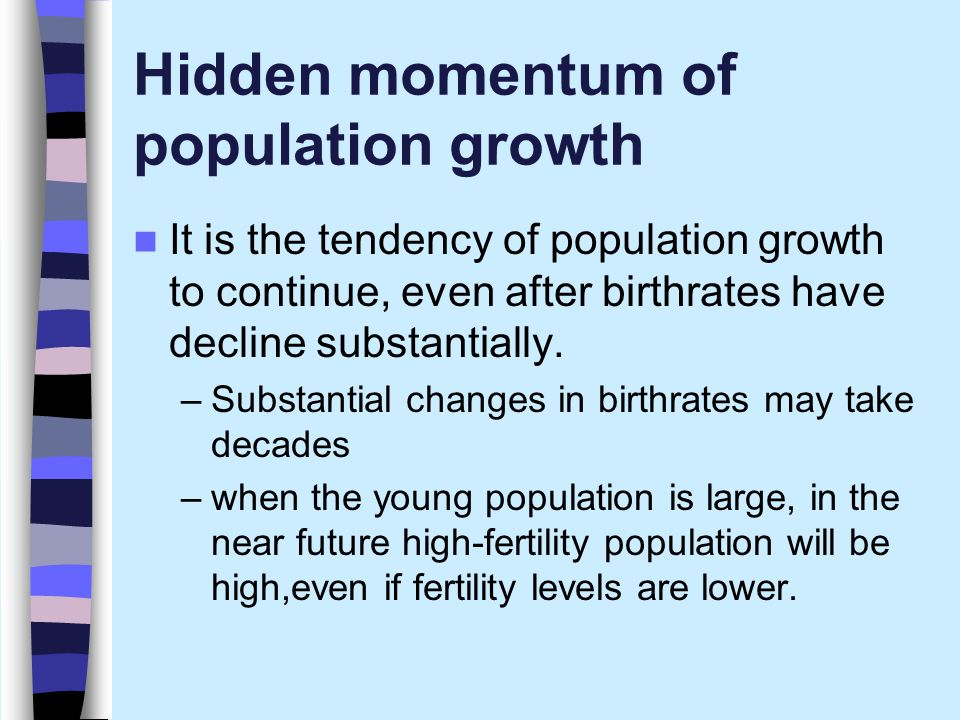 Hidden momentum of population growth