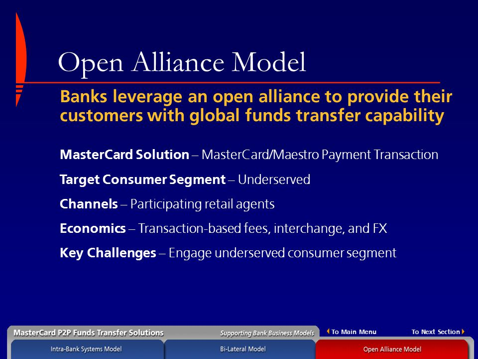 Open Alliance Model Banks Leverage An To Provide Their Customers With Global Funds Transfer