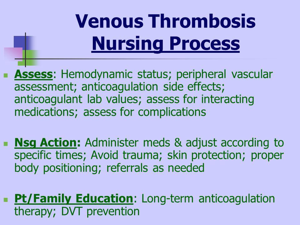 peripheral vascular disorders venous thrombosis ppt download