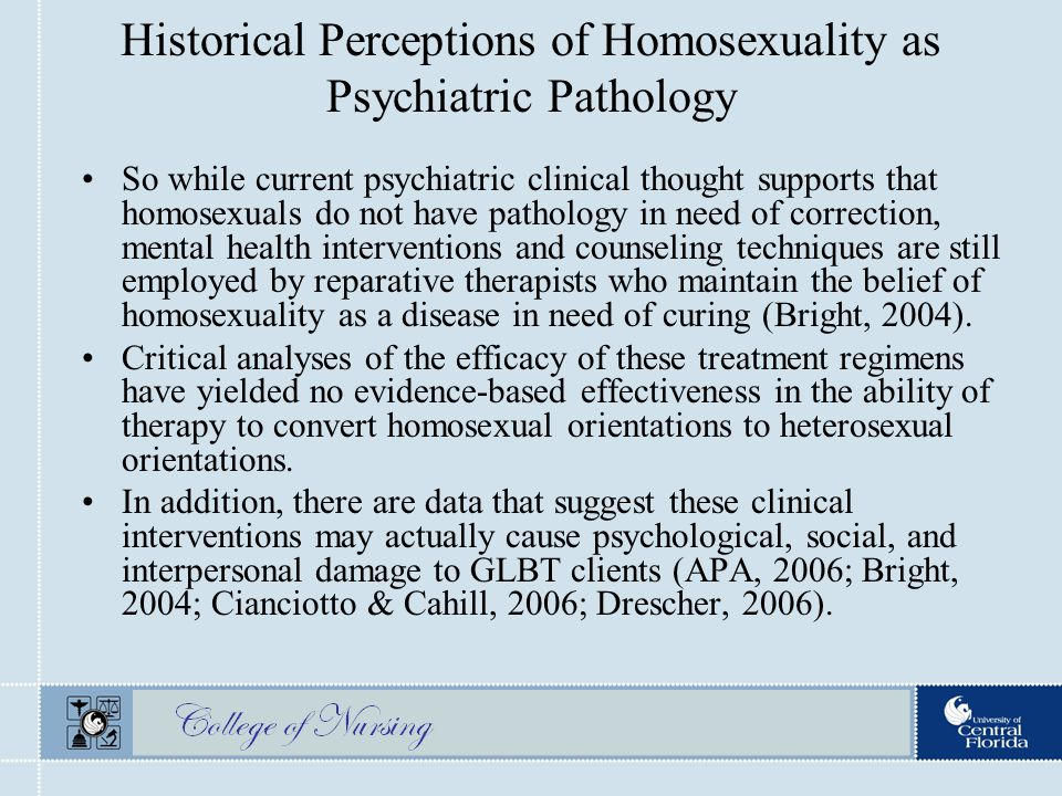 Covert sensitization homosexuality statistics