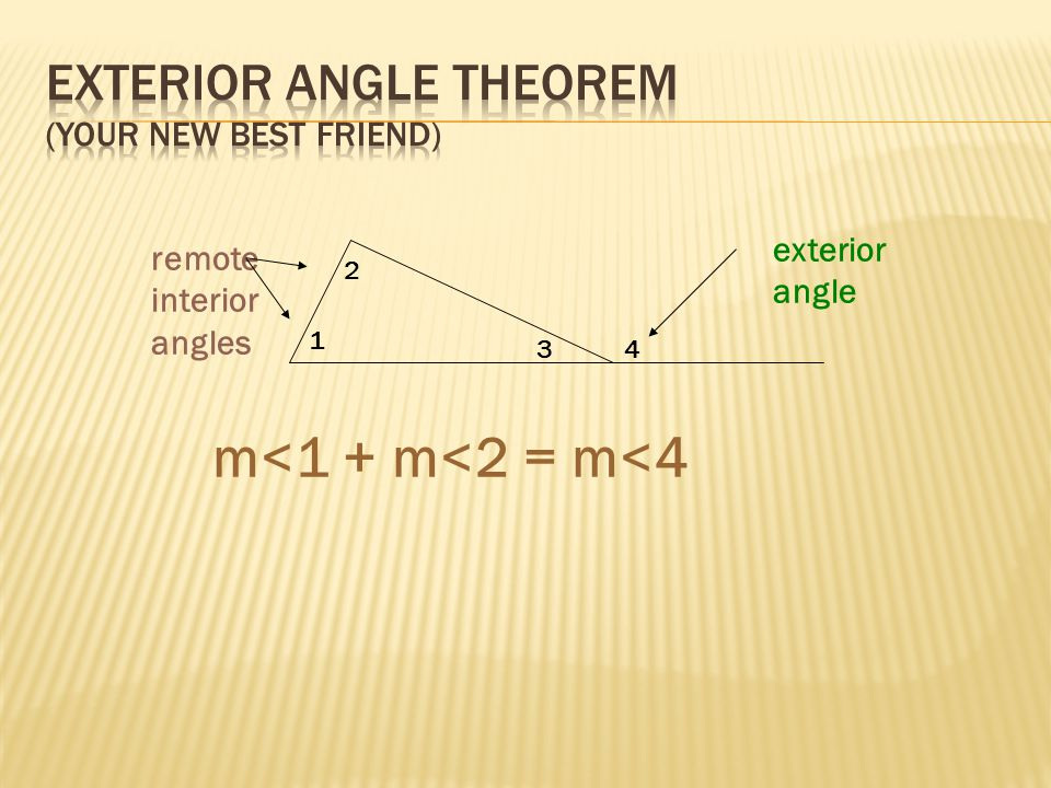 Lesson 4.3 – Triangle inequalities & Exterior Angles - ppt download