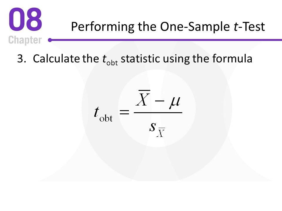 Performing the One-Sample t-Test