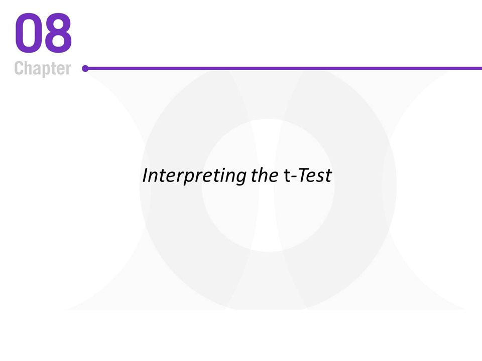 Interpreting the t-Test