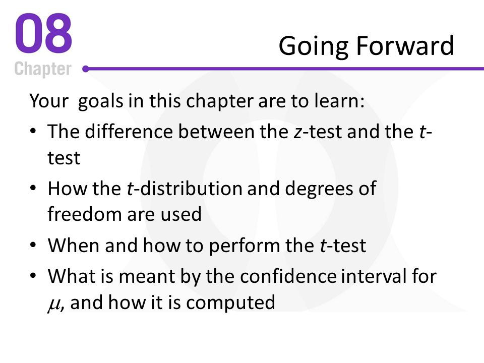 Going Forward Your goals in this chapter are to learn: